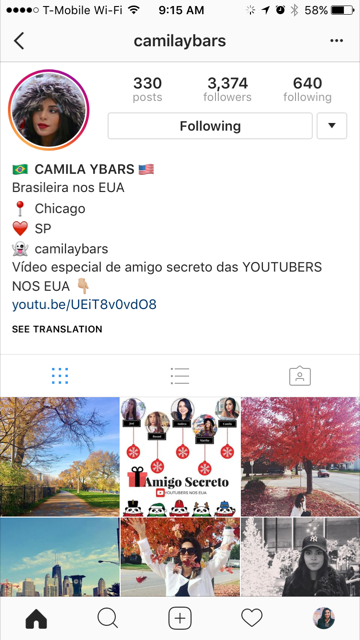 Instagram Camila Ybars by AS blog